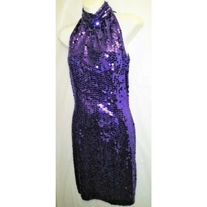 Purple Sequins Dress by Night line- Size 6